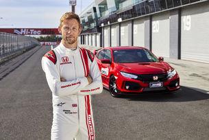 Дженсън Бътън постави нов рекорд с Honda Civic Type R