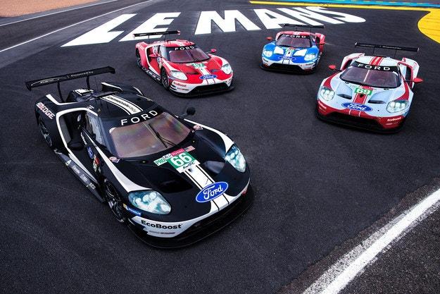 Специални ливреи за Ford GT в Льо Ман