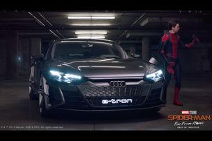 Audi e-tron e звездата в новия филм за Spider-Man