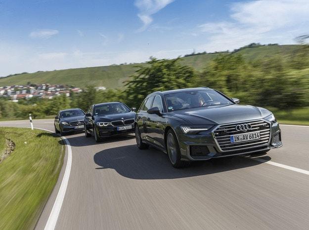 Audi A6 Avant, BMW 5 Touring и Mercedes E-класа T-модел