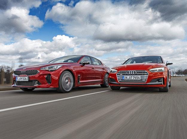 Kia Stinger GT 3.3 и Audi S5 Sportback