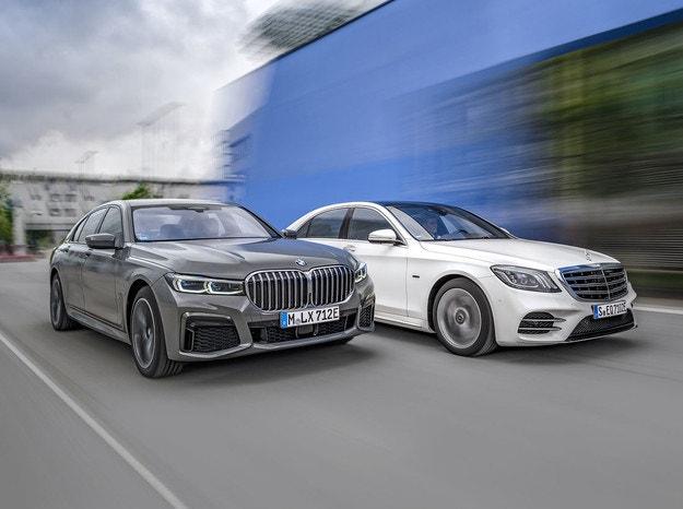 BMW 745e и Mercedes S 560 e L