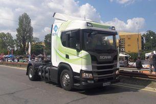 Scania демонстрира камиони на метан