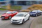 Mazda 6, Peugeot 508, VW Passat: Срещу течението