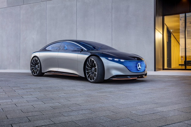 Бум на премиерата на Mercedes-Benz Vision EQS