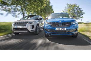 Range Rover Evoque D240 срещу Skoda Kodiaq RS: SUV дуел