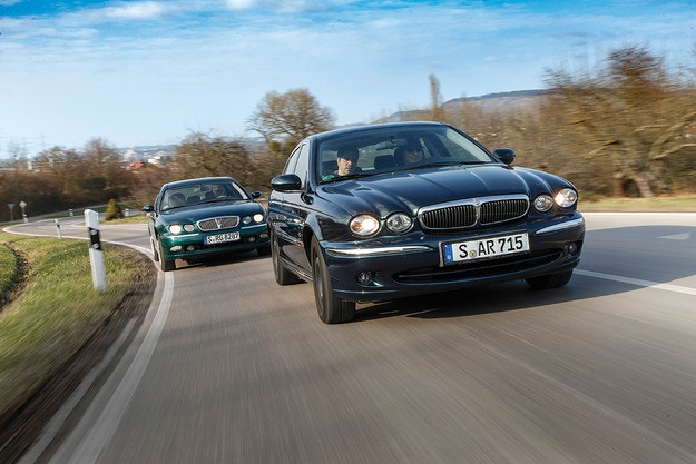 Jaguar X-Type 2.5 V6 и Rover 75 2.0 V6