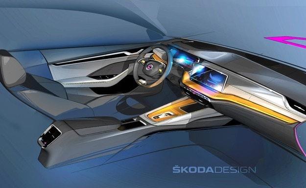 Skoda показа интериора на новата Octavia