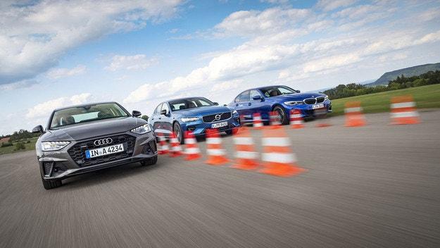 Audi A4 45 TFSI, BMW 330i и Volvo S60 T5