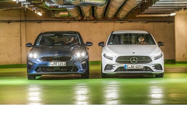 Kia Ceed 1.4 и Mercedes A 200:
