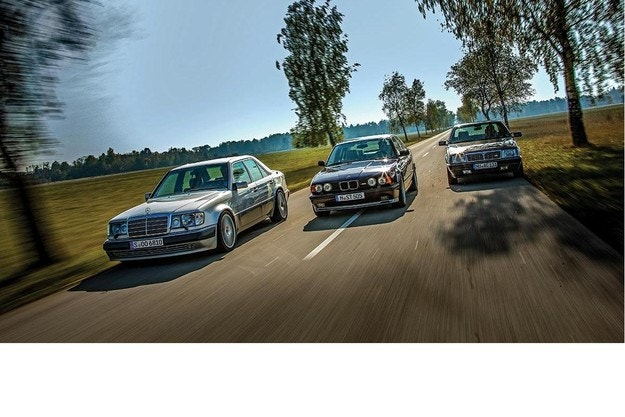 BMW M5, Lancia Thema 8.32, Mercedes-Benz 500 E