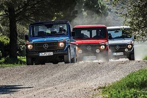 С три G-модела на Mercedes в Южна Франция
