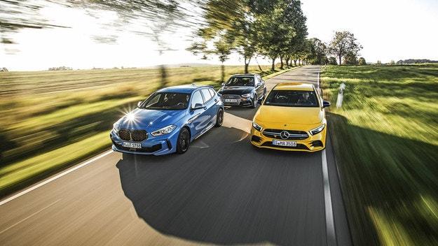 BMW M135i, Audi S3 Sportback, Mercedes AMG A 35