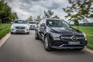 BMW X3, Mercedes GLC, Volvo XC60
