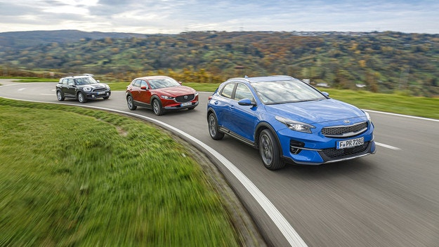 Kia XCeed, Mazda CX-30, Mini Countryman