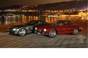 Mercedes 300 SL и SLS AMG