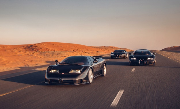 Bugatti събра три скъпоценни камъка в Дубай