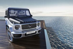 Един Mercedes AMG G 63, който се родее с яхта