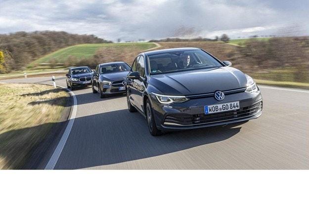 VW Golf 2.0 TDI, Mercedes A 200d, BMW 118d