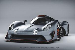 Дизайн: Alpine A480 LMDh от Гийом Филип