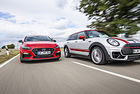 Hyundai i30 Fastback N и Mini Clubman John Cooper Works All4