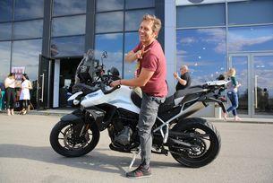 Калин Врачански се порадва на екшън с мотор