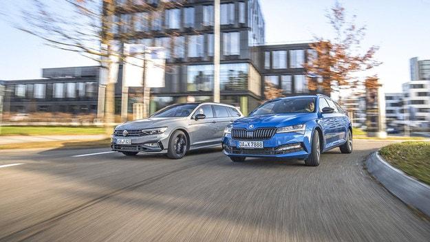 Skoda Superb Combi и VW Passat Variant