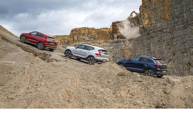 Mercedes GLA, VW T-Roc, Volvo XC40