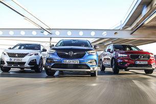 Opel Grandland X, Peugeot 3008, Volvo XC40