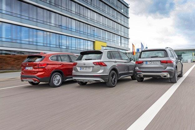 BMW X1, Mercedes GLB, VW Tiguan