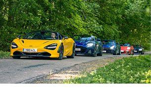 Aston Martin DBS SL Volante, BMW M8 Competition Cabrio, McLaren 720S Spider, Mercedes-AMG GT R Roadster и Porsche 911 Speedster
