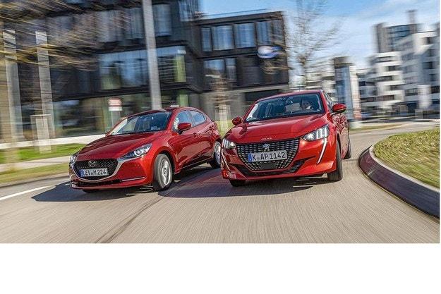Mazda 2 G 90 M Hybrid, Peugeot 208 Puretech 100