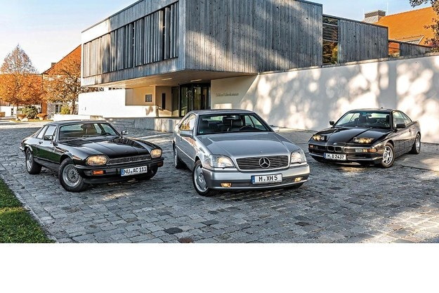 BMW 850i, Jaguar XJ-S, Mercedes S 600 Coupé