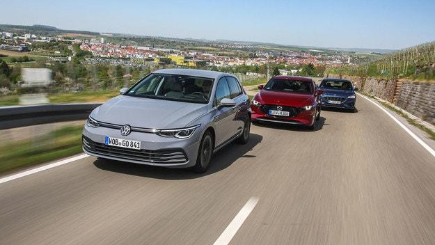 Ford Focus, Mazda 3, VW Golf