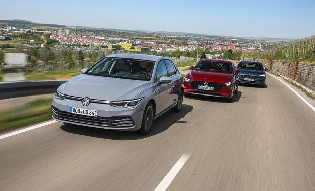 Ford Focus, Mazda 3, VW Golf: Равенството на различията
