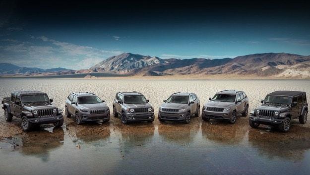 Моделите Jeep получават спецверсия 80th Anniversary