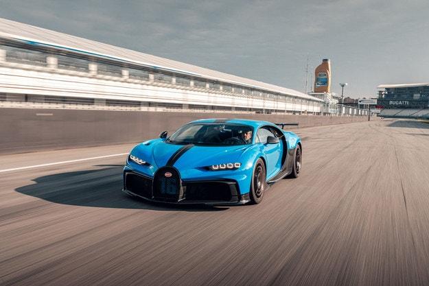 Bugatti Chiron Pur Sport на пистата Хокенхайм