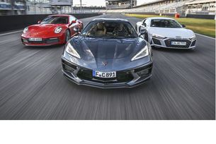 Corvette Stingray, Audi R8 и Porsche 911