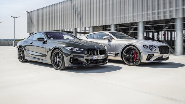 Bentley Continental GT V8 и BMW M850I xDrive