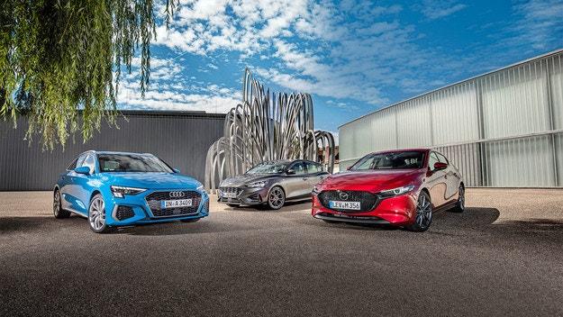 Audi A3 Sportback, Ford Focus und Mazda 3