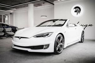 Уникален кабриолет Tesla Model S от Ares Design