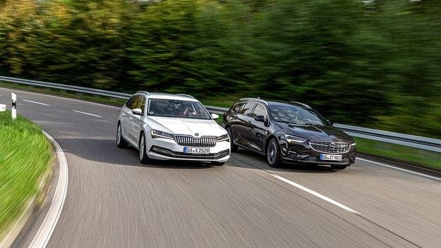 Opel Insignia Sports срещу Skoda Superb