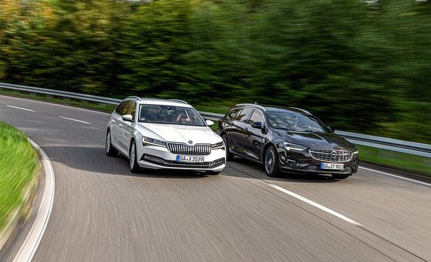Opel Insignia Sports, Skoda Superb: Големи дизелови комбита
