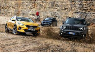 BMW X2, Jeep Renegade, Kia Xceed