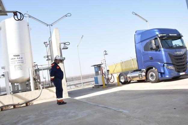 Първа станция за зареждане на камиони с LNG
