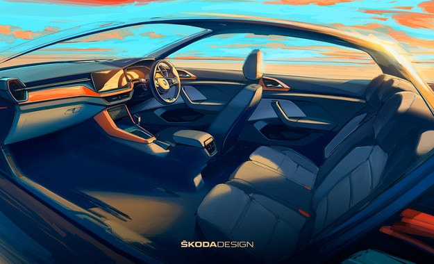 Skoda показва салона на новия кросоувър
