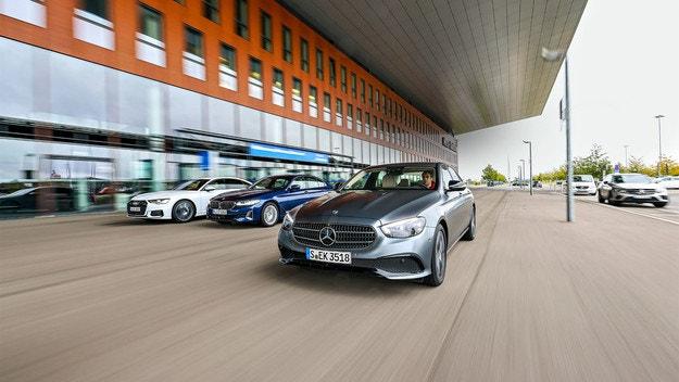 Audi A6, BMW Серия 5, Mercedes E-класа