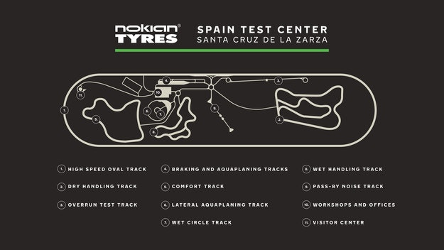Тестове в новия център на Nokian Tyres в Испания