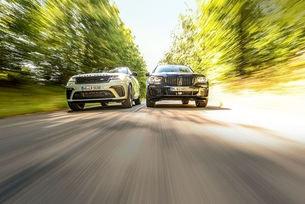 BMW X5 M50i, Range Rover Velar P550 SVA