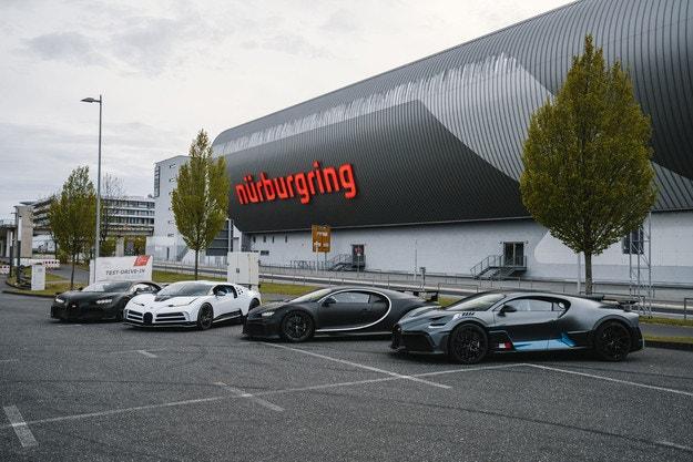 Bugatti в процес на разработка на Нюрбургринг